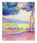 Pines Along The Shore - Digital Remastered Edition Fleece Blanket