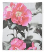 Pink Camellia. Shabby Chic Collection Fleece Blanket