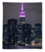 Pink Empire State Building Fleece Blanket