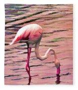 Pink Flamingo Two Fleece Blanket