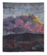 Pink Sky Delight Fleece Blanket