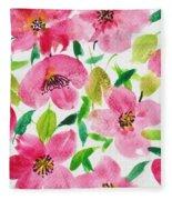 Pink Spring Fleece Blanket