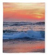 Pink Sunrise Panorama Fleece Blanket