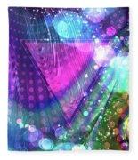 Pink Triangle Fractal Fleece Blanket