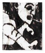 Pipe After Mikhail Larionov Black Oil Painting 4 Fleece Blanket