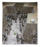 Pit 2 Of Terra Cotta Warriors, Xian, China Fleece Blanket