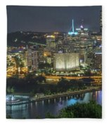 Pittsburgh Lights Fleece Blanket