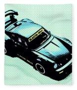 Pixel Porsche Fleece Blanket