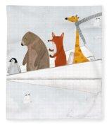 Plane Sailing Fleece Blanket