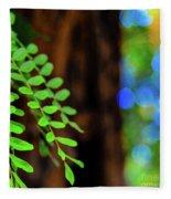 Plants, Trees And Flowers Fleece Blanket
