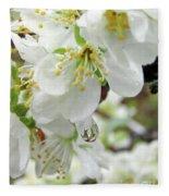Plum Blossoms 2 Fleece Blanket