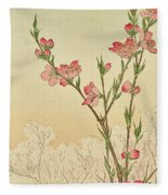 Plum Or Cherry Blossom Fleece Blanket
