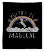 Poetry Is Magical Fleece Blanket