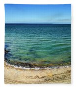Pointe Du Hoc Panorama Fleece Blanket