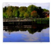 Pond Refletions Fleece Blanket