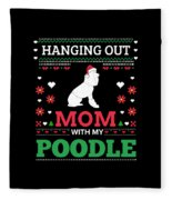 Poodle Ugly Christmas Sweater Xmas Gift Fleece Blanket