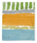 Poolside 1- Art By Linda Woods Fleece Blanket