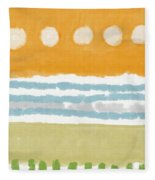 Poolside 2- Art By Linda Woods Fleece Blanket