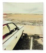 Pop Art Beach Carpark  Fleece Blanket