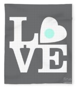 Pop Art Love In Gray Fleece Blanket