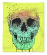 Pop Art Skull Fleece Blanket