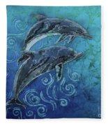 Porpoise Pair Fleece Blanket