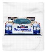 Porsche 962 Al Holbert Racing Fleece Blanket