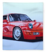 Porsche 964  Fleece Blanket