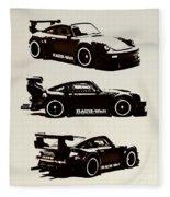 Porsche Rwb 930 Fleece Blanket