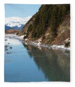 Portage Creek Portage Glacier Highway Alaska Fleece Blanket