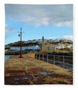 Porthleven Cornwall Fleece Blanket