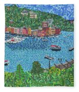 Portofino, Italy 2 Fleece Blanket