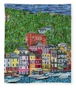 Portofino, Italy Fleece Blanket