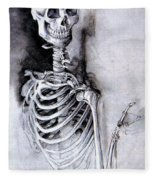 Portrait Of A Skeleton Fleece Blanket