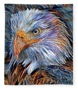 Portrait Of A Watchful Eye Fleece Blanket