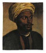 Portrait Of An Arab Fleece Blanket