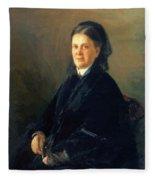 Portrait Of Anna Olsufyeva Fleece Blanket