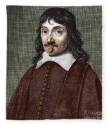 Portrait Of Descartes Fleece Blanket
