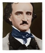 Portrait Of Edgar Allan Poe, Circa 1849 Fleece Blanket