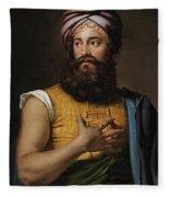 Portrait Of Giovanni Belzoni Fleece Blanket