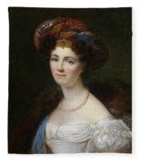 Portrait Of Josephine Victoire Meslier Duvey D  Fleece Blanket