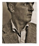 Portrait Of Ludwig Wittgenstein, 1947 Fleece Blanket