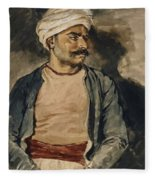 Portrait Of Mustapha Fleece Blanket