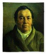 Portrait Of Nikolay O Ge Artist Father Fleece Blanket