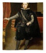 Portrait Of Philip Iv  Fleece Blanket