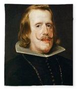 Portrait Of Philip Iv  King Of Spain  Fleece Blanket
