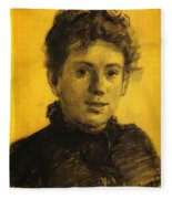 Portrait Of Tatyana Tolstaya Leo Tolstoy Daughter Fleece Blanket