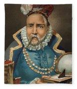 Portrait Of Tycho Brahe Fleece Blanket