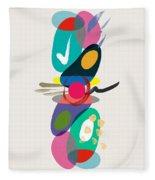 Positive Colors Building Fleece Blanket