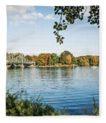 Potsdam - Havel River / Glienicke Bridge Fleece Blanket